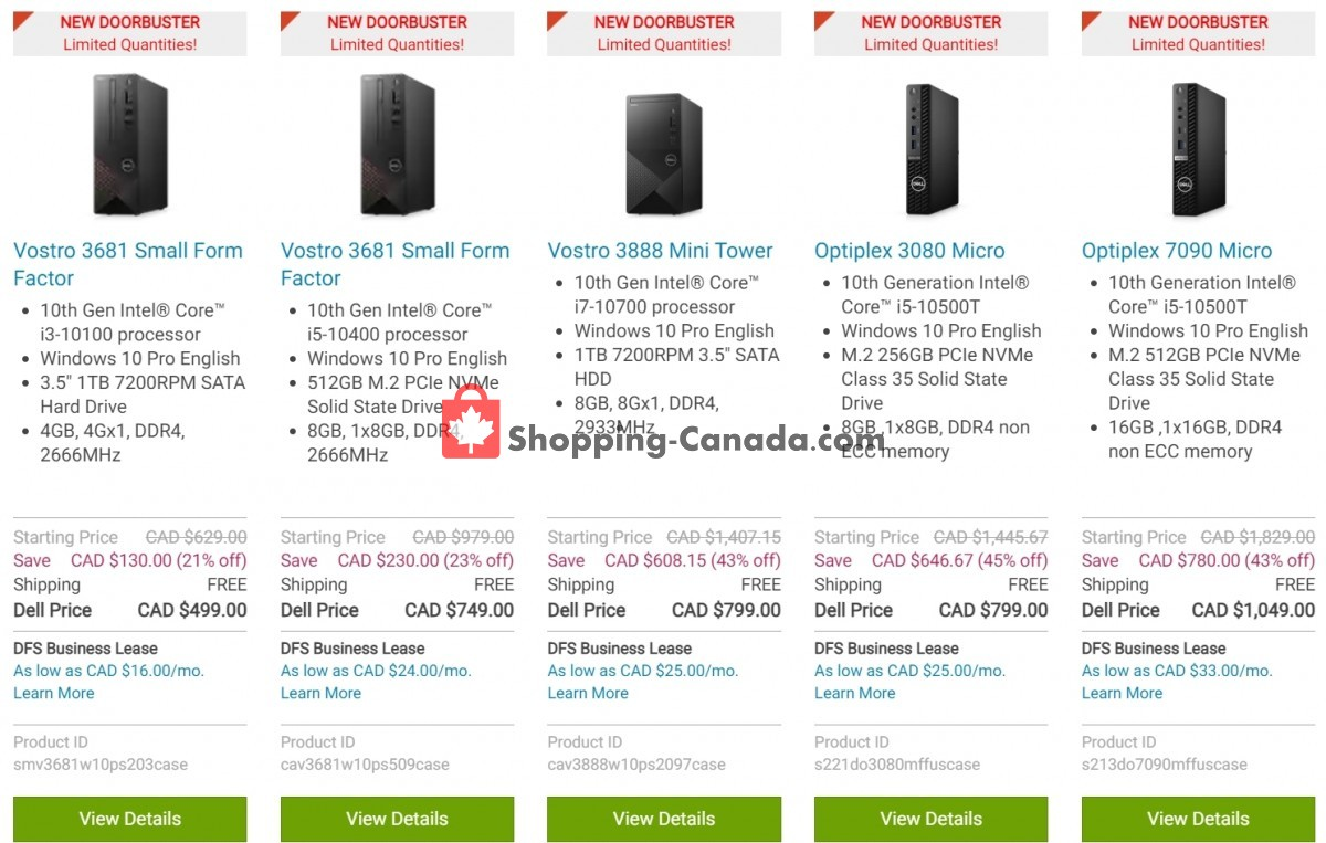 Flyer Dell Canada - from Tuesday July 13, 2021 to Monday July 19, 2021