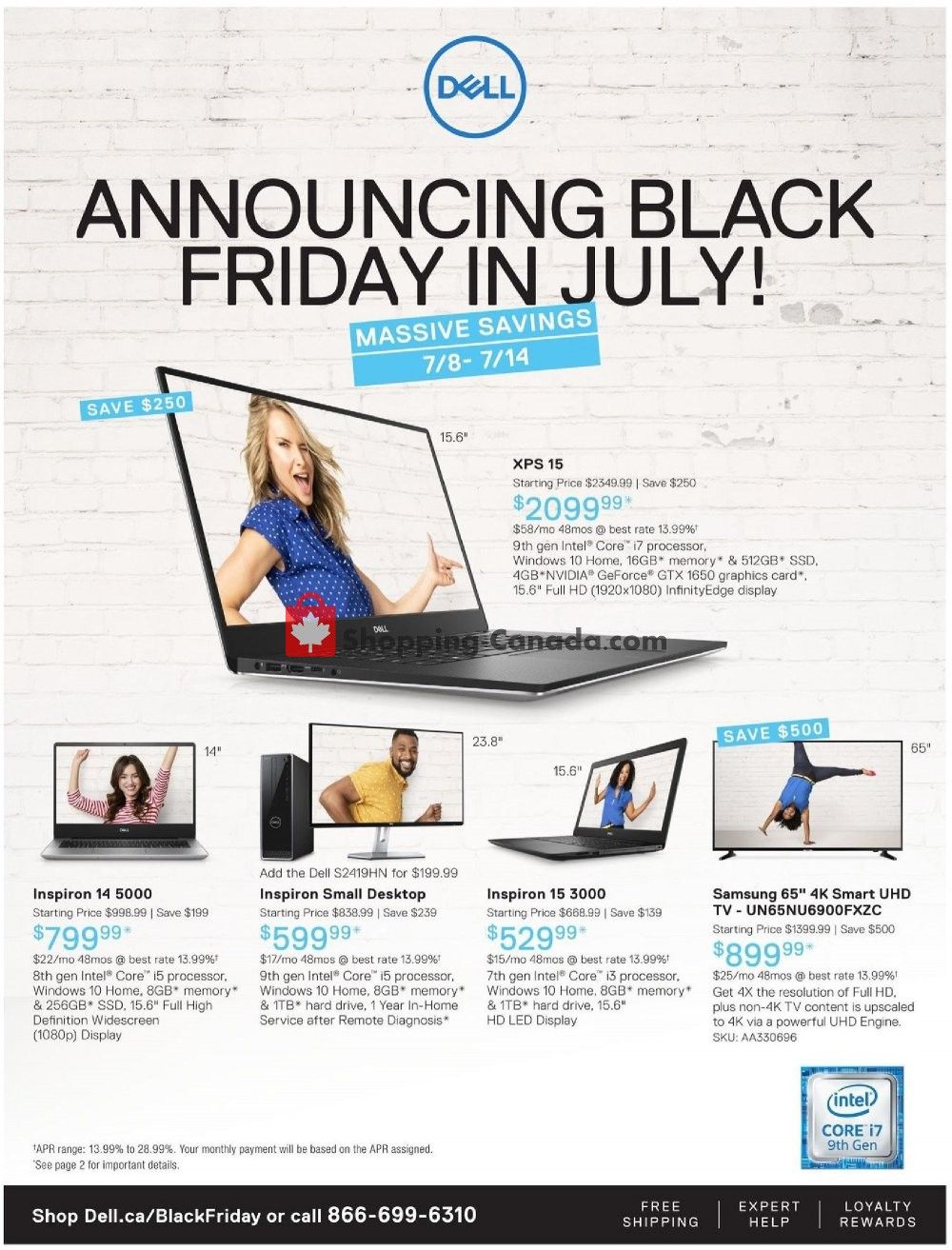 Flyer Dell Canada - from Monday July 8, 2019 to Sunday July 14, 2019