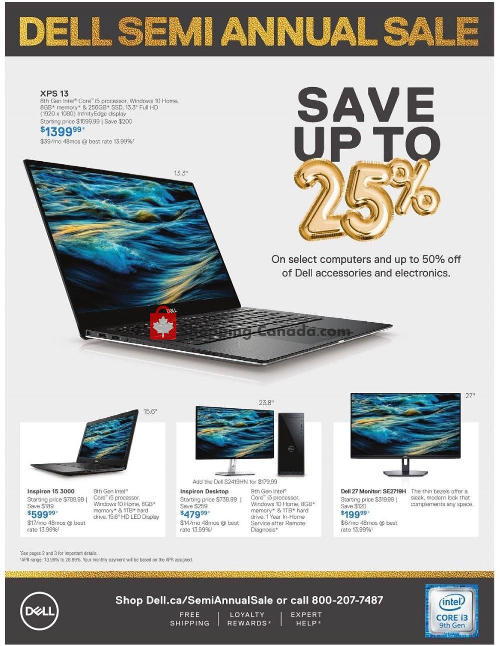 Flyer Dell Canada - from Friday September 6, 2019 to Thursday September 19, 2019