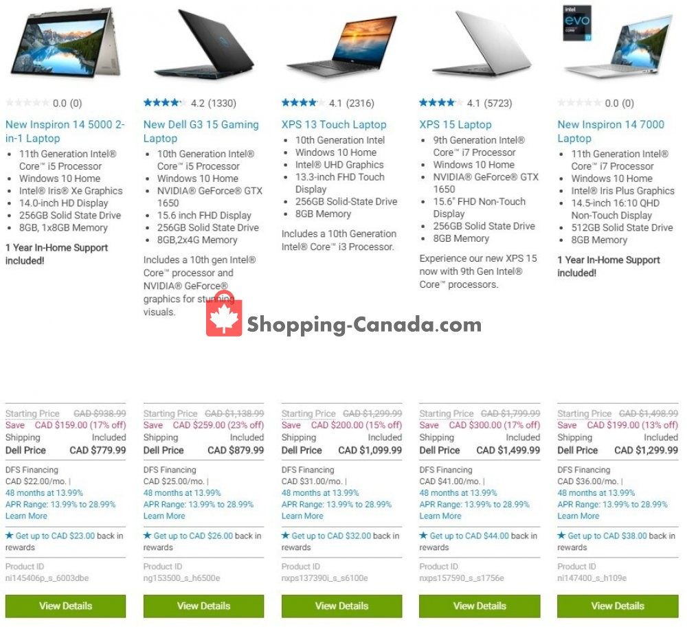 Flyer Dell Canada - from Wednesday October 14, 2020 to Tuesday October 20, 2020