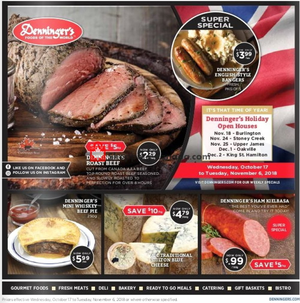 Flyer Denninger's Canada - from Wednesday October 17, 2018 to Tuesday November 6, 2018
