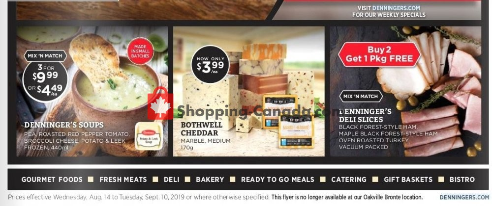Flyer Denninger's Canada - from Wednesday August 14, 2019 to Tuesday September 10, 2019