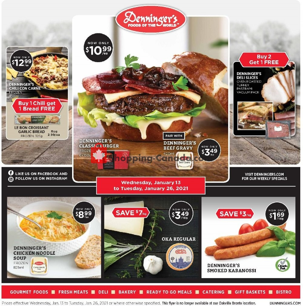 Flyer Denninger's Canada - from Wednesday January 13, 2021 to Tuesday January 26, 2021