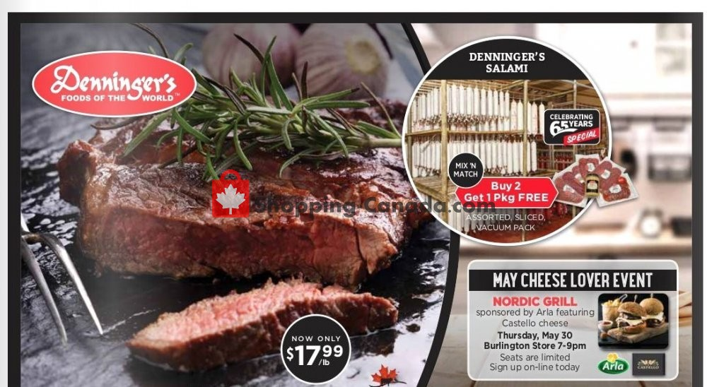 Flyer Denninger's Canada - from Wednesday May 8, 2019 to Tuesday May 28, 2019