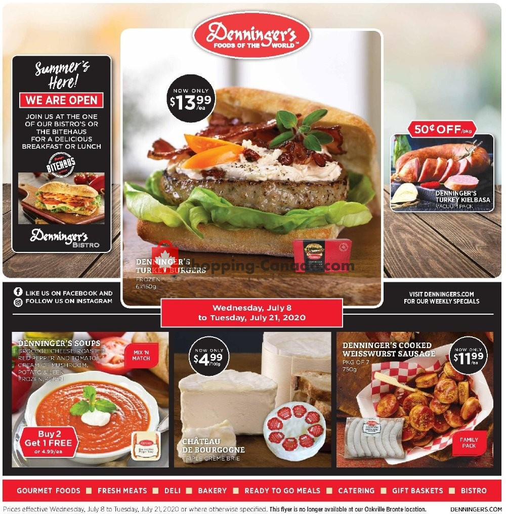 Flyer Denninger's Canada - from Wednesday July 8, 2020 to Tuesday July 21, 2020