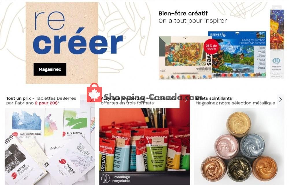 Flyer DeSerres Canada - from Friday January 31, 2020 to Thursday February 6, 2020