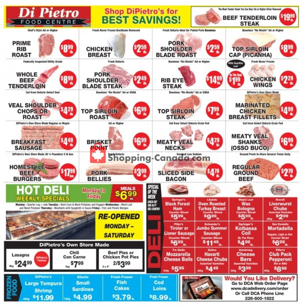 Flyer DiPietro's Canada - from Thursday April 23, 2020 to Wednesday April 29, 2020