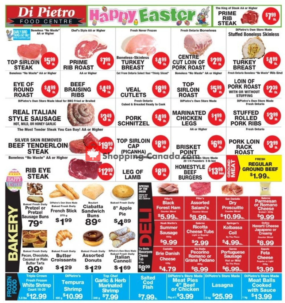 Flyer DiPietro's Canada - from Thursday April 18, 2019 to Wednesday April 24, 2019