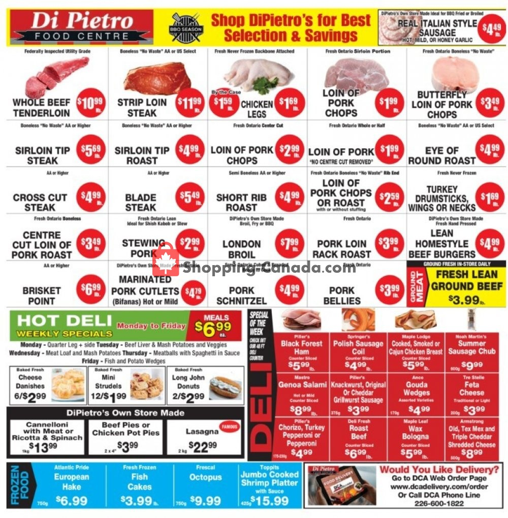 Flyer DiPietro's Canada - from Thursday July 30, 2020 to Wednesday August 5, 2020