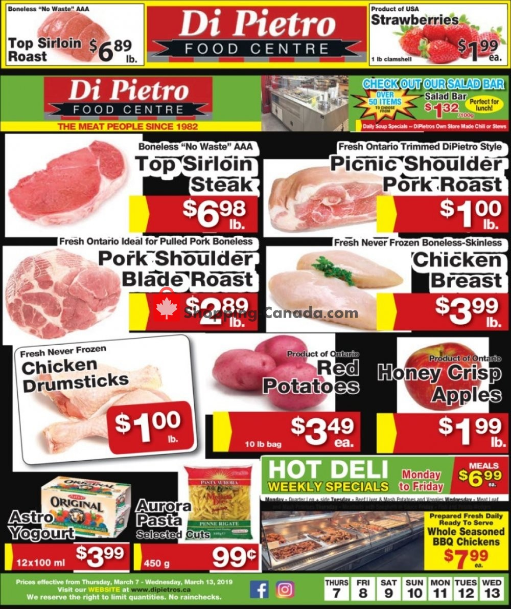 Flyer DiPietro's Canada - from Thursday March 7, 2019 to Wednesday March 13, 2019