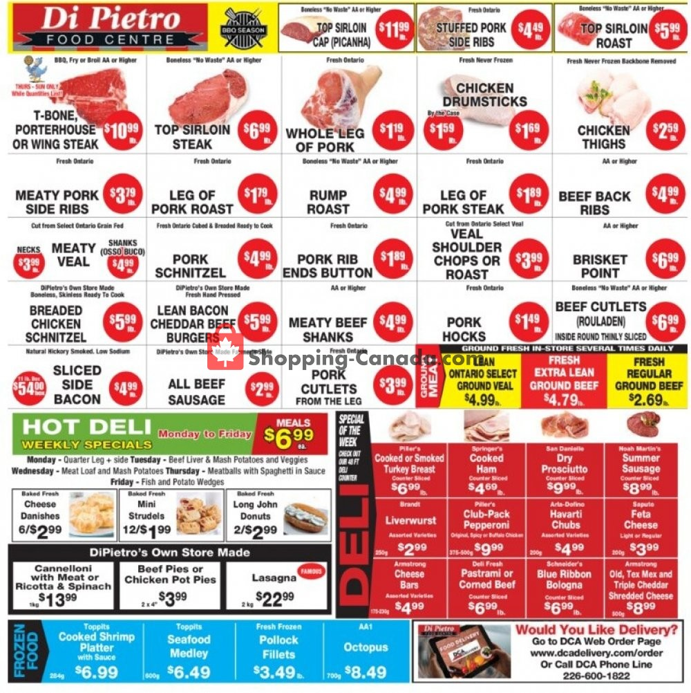 Flyer DiPietro's Canada - from Thursday August 6, 2020 to Wednesday August 12, 2020