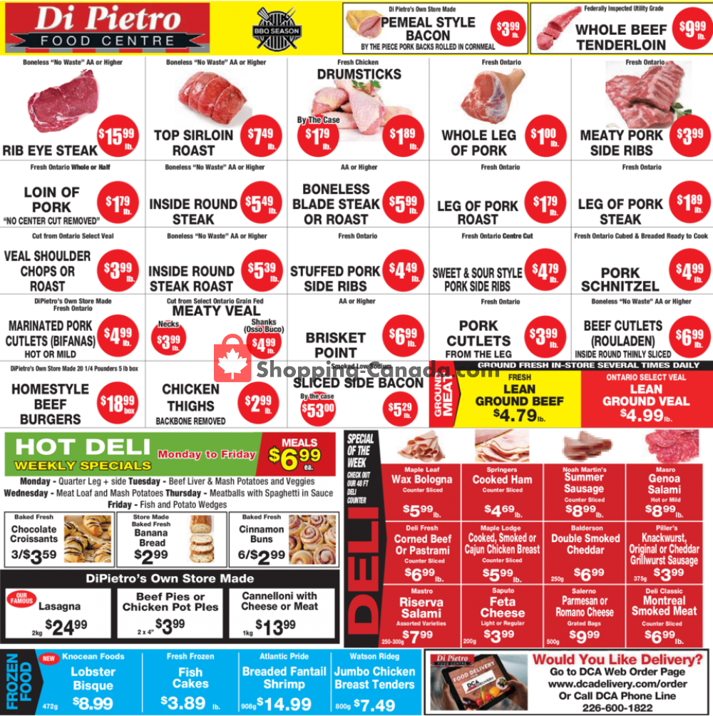 Flyer DiPietro's Canada - from Thursday July 9, 2020 to Wednesday July 15, 2020