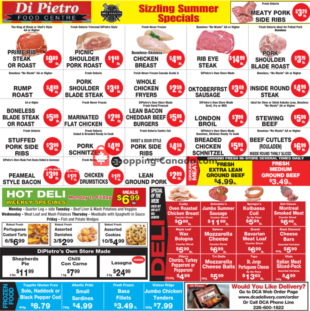 Flyer DiPietro's Canada - from Thursday July 23, 2020 to Wednesday July 29, 2020