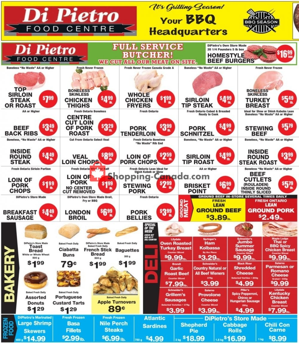 Flyer DiPietro's Canada - from Thursday July 11, 2019 to Wednesday July 17, 2019