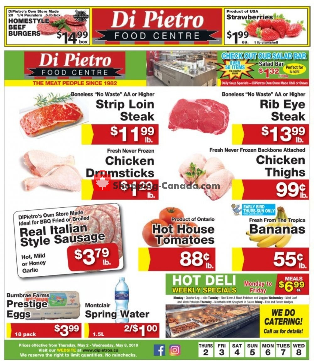 Flyer DiPietro's Canada - from Thursday May 2, 2019 to Wednesday May 8, 2019