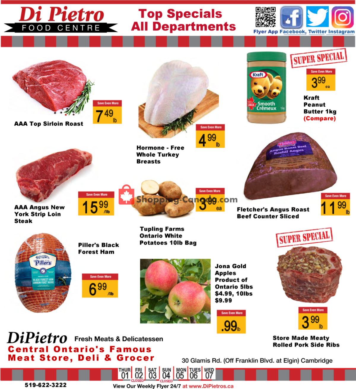 Flyer DiPietro's Canada - from Thursday April 1, 2021 to Wednesday April 7, 2021