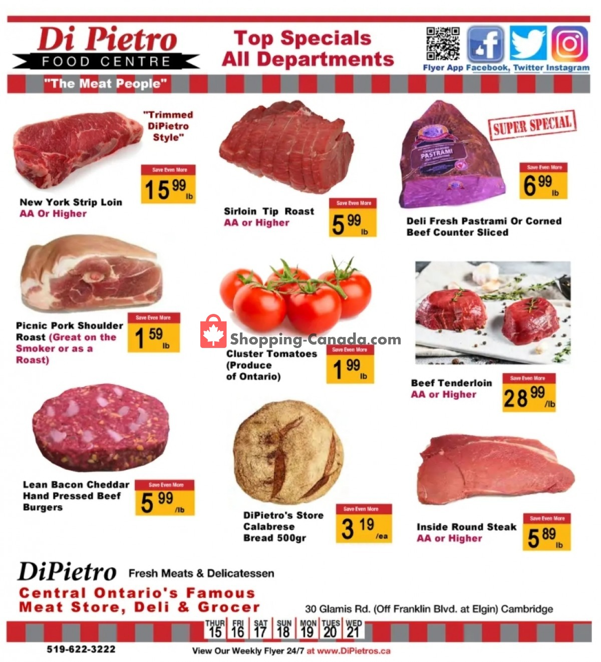 Flyer DiPietro's Canada - from Thursday July 15, 2021 to Wednesday July 21, 2021