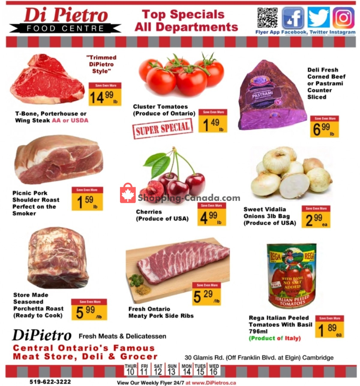 Flyer DiPietro's Canada - from Thursday June 10, 2021 to Wednesday June 16, 2021