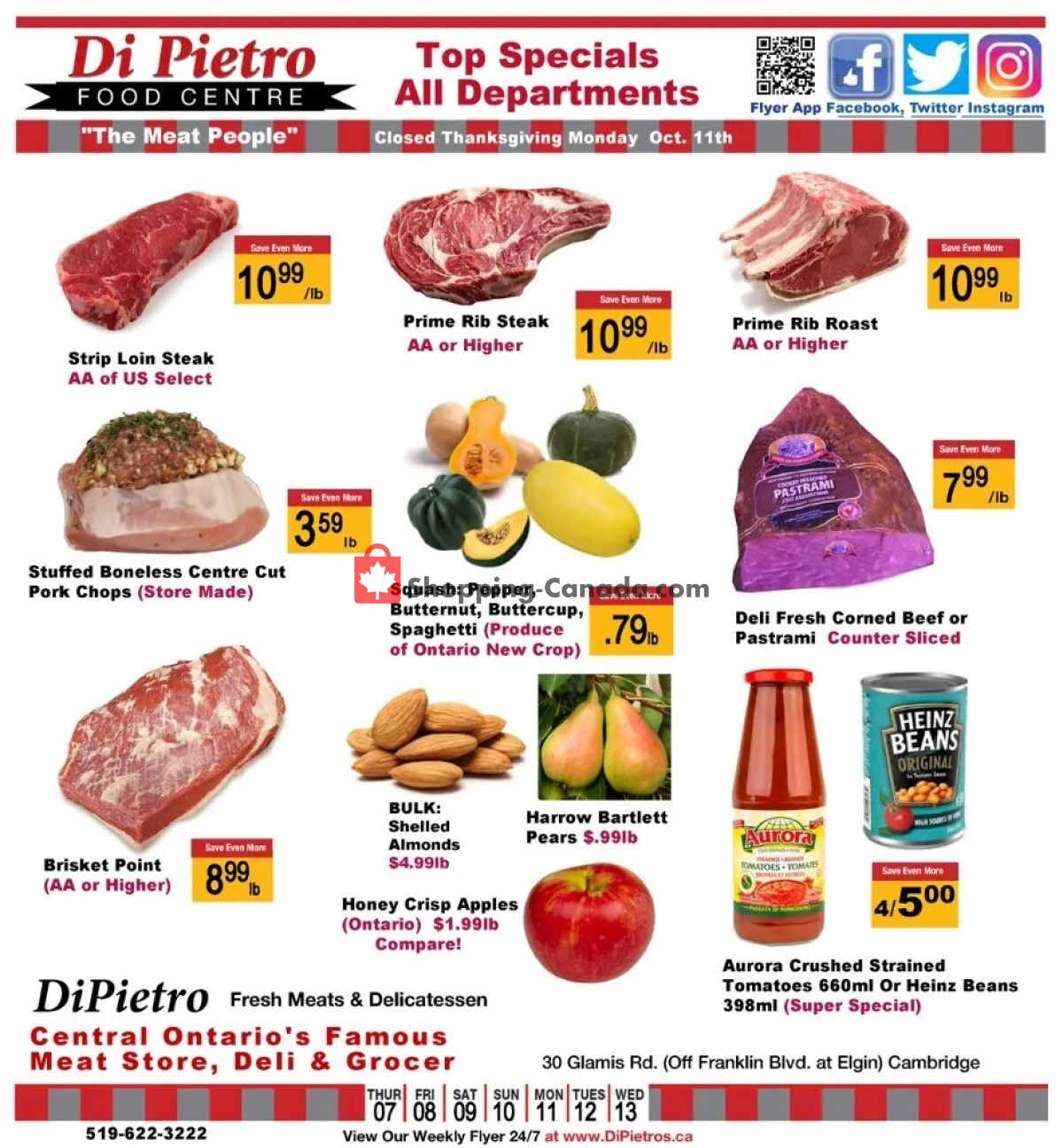 Flyer DiPietro's Canada - from Thursday October 7, 2021 to Wednesday October 13, 2021
