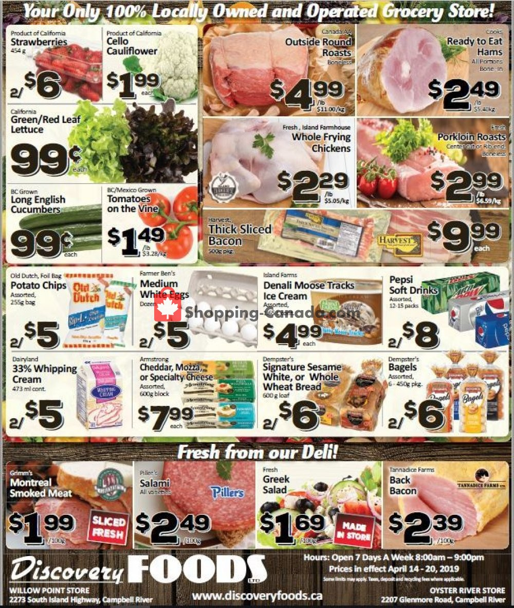 Flyer Discovery Foods Canada - from Sunday April 14, 2019 to Saturday April 20, 2019