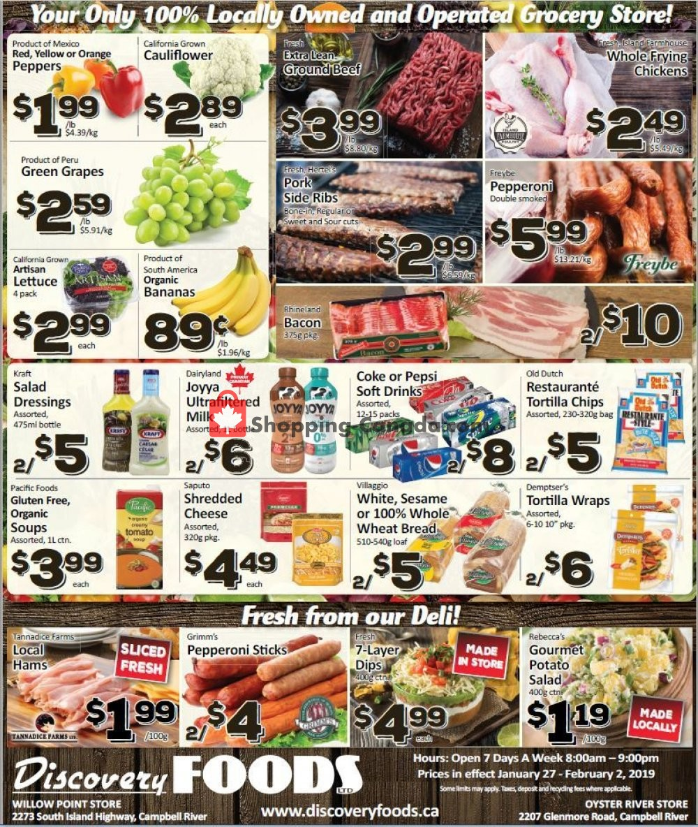 Flyer Discovery Foods Canada - from Sunday January 27, 2019 to Saturday February 2, 2019