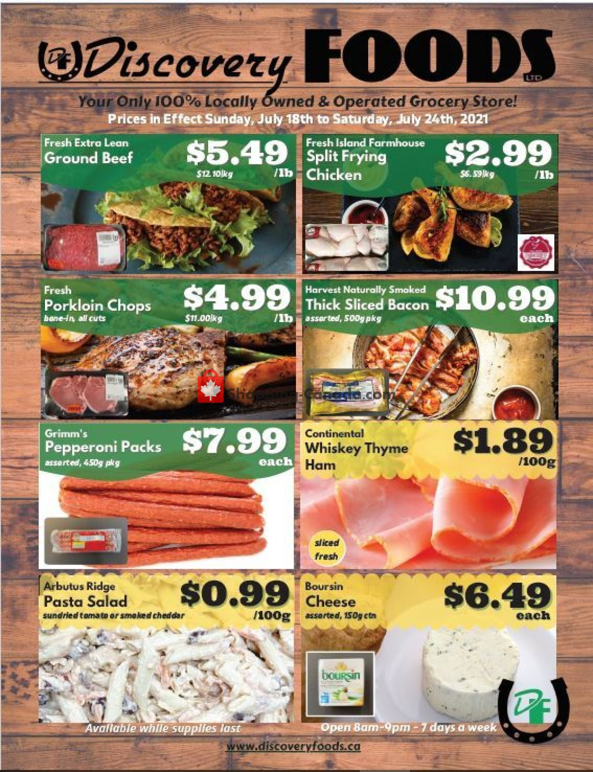 Flyer Discovery Foods Canada - from Sunday July 18, 2021 to Saturday July 24, 2021