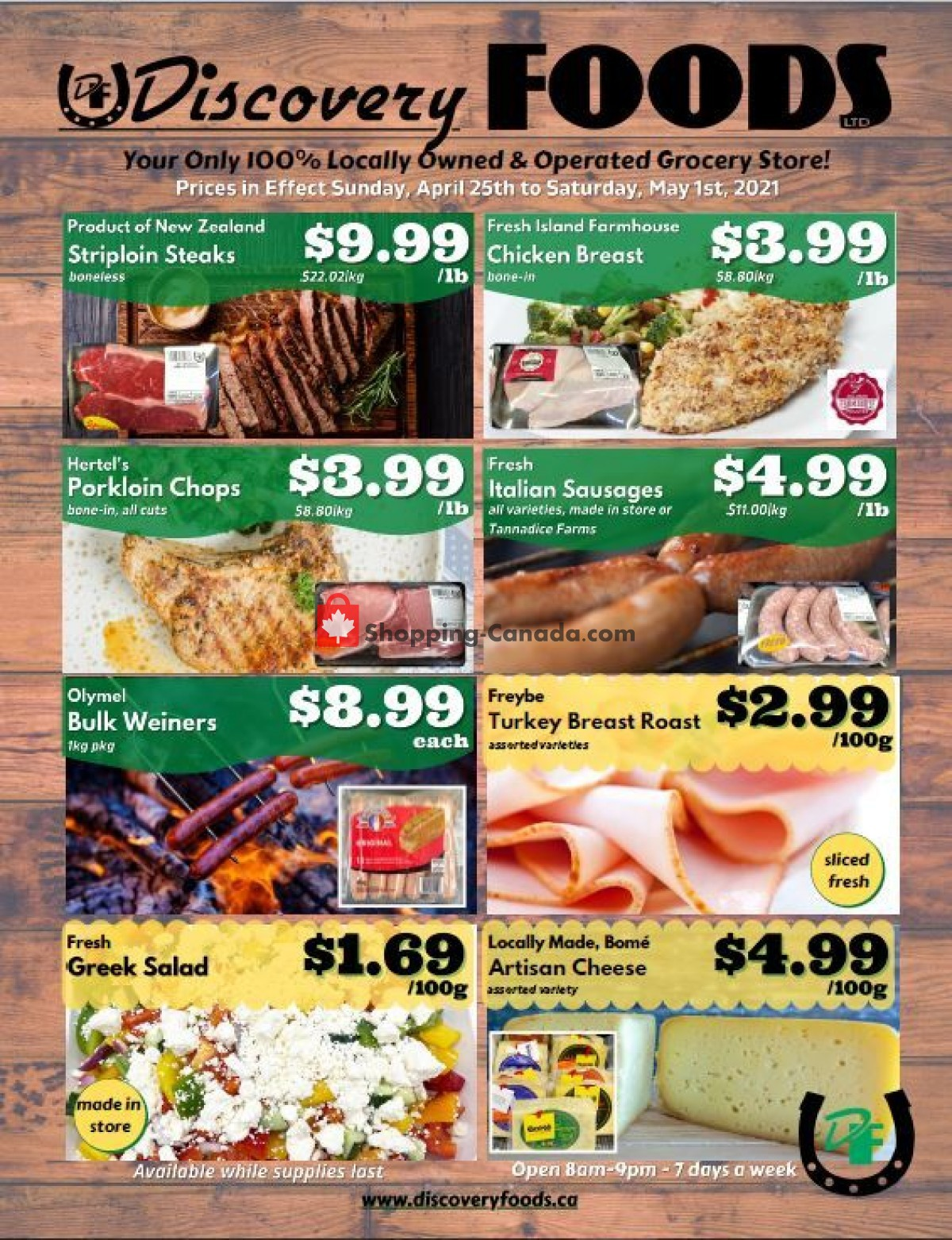 Flyer Discovery Foods Canada - from Sunday April 25, 2021 to Saturday May 1, 2021