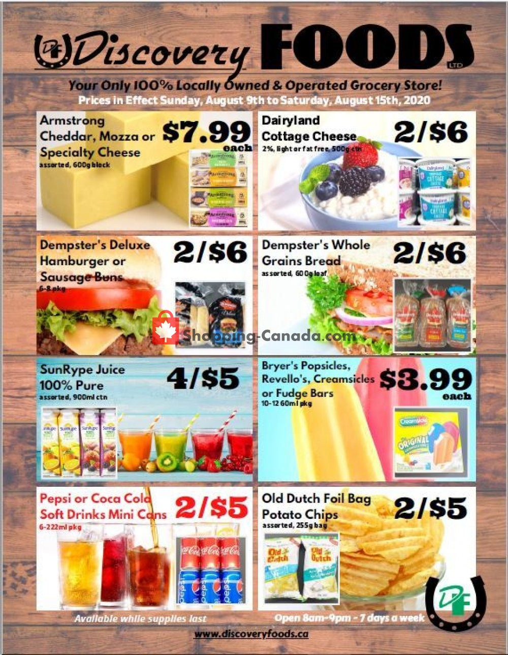Flyer Discovery Foods Canada - from Sunday August 9, 2020 to Saturday August 15, 2020