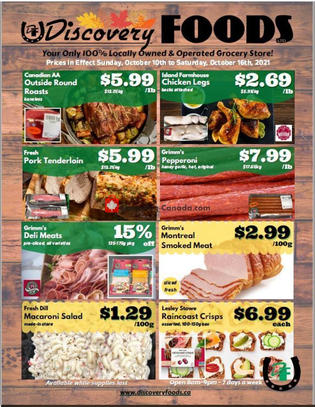 Flyer Discovery Foods Canada - from Sunday October 10, 2021 to Saturday October 16, 2021