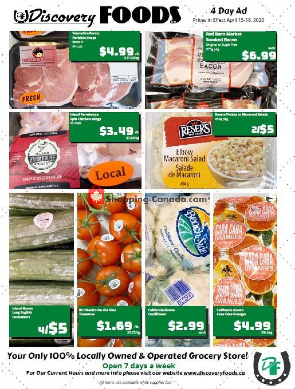 Flyer Discovery Foods Canada - from Wednesday April 15, 2020 to Saturday April 18, 2020