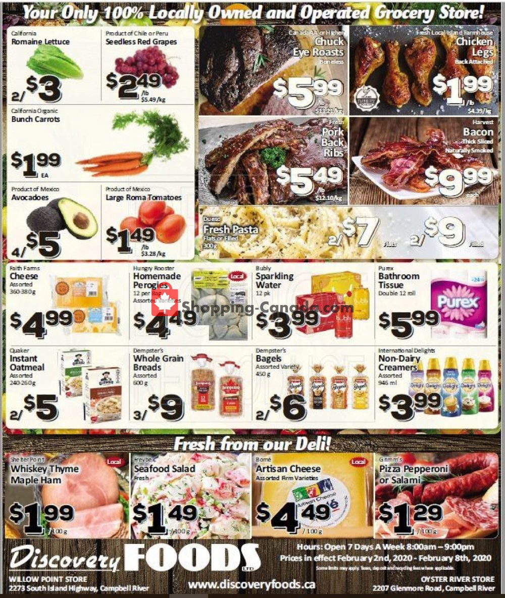 Flyer Discovery Foods Canada - from Sunday February 2, 2020 to Saturday February 8, 2020