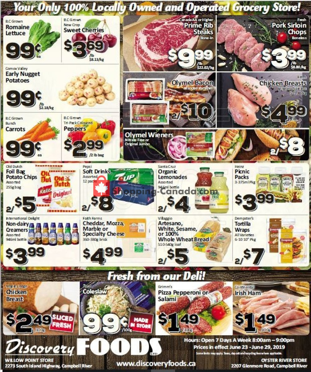 Flyer Discovery Foods Canada - from Sunday June 23, 2019 to Saturday June 29, 2019