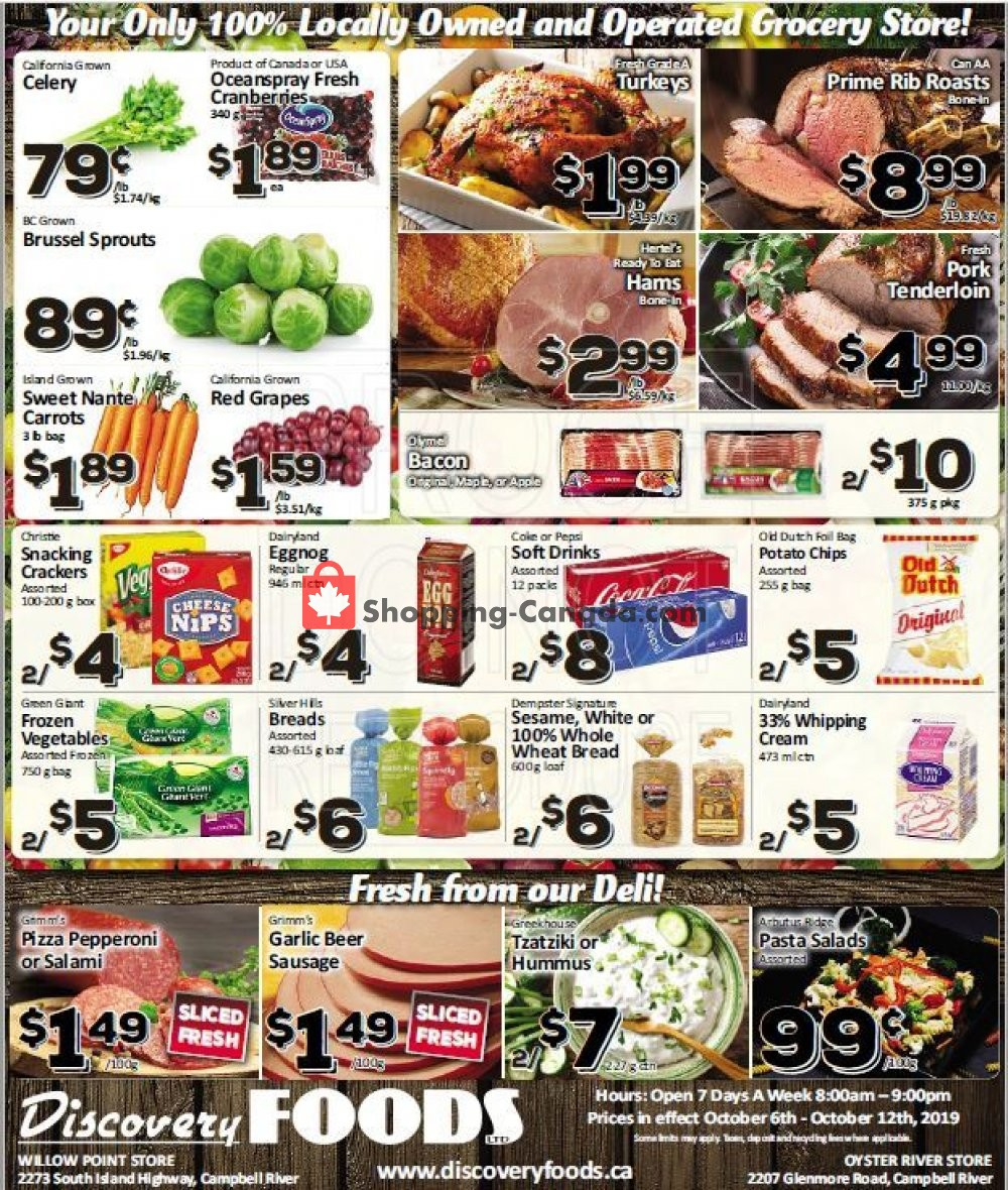 Flyer Discovery Foods Canada - from Sunday October 6, 2019 to Saturday October 12, 2019
