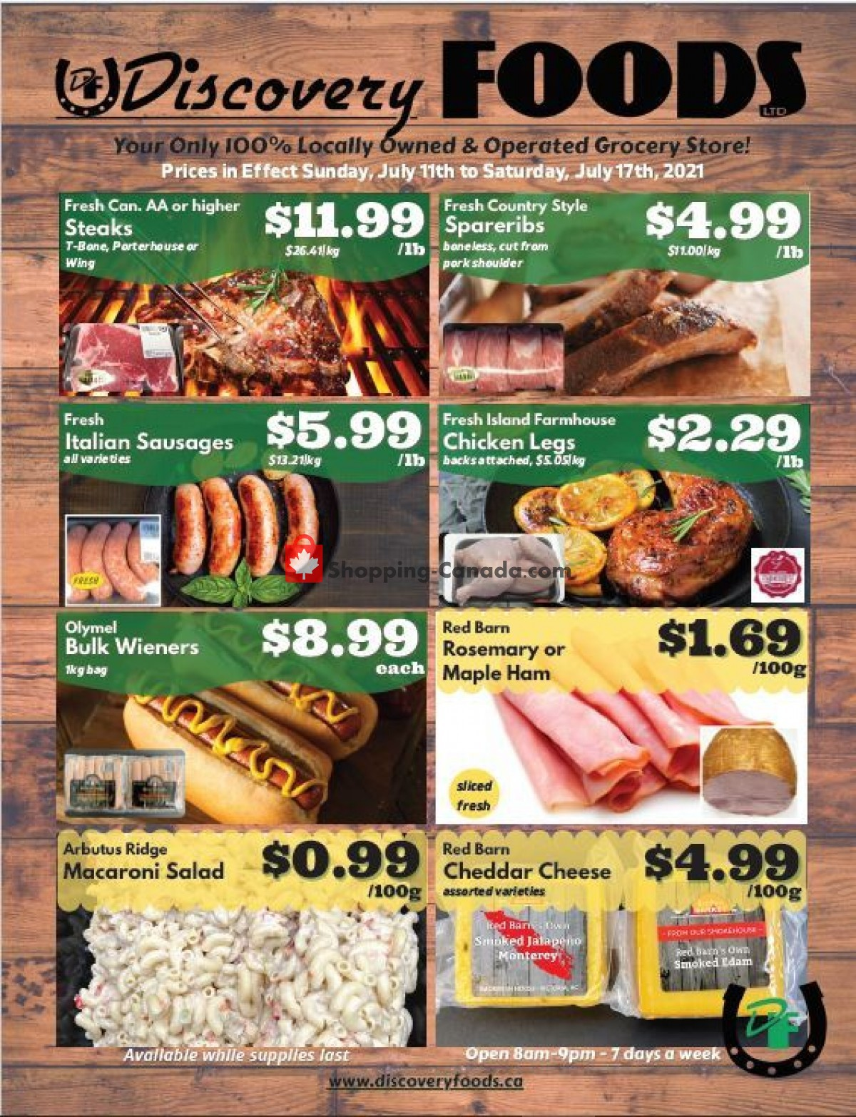 Flyer Discovery Foods Canada - from Sunday July 11, 2021 to Saturday July 17, 2021