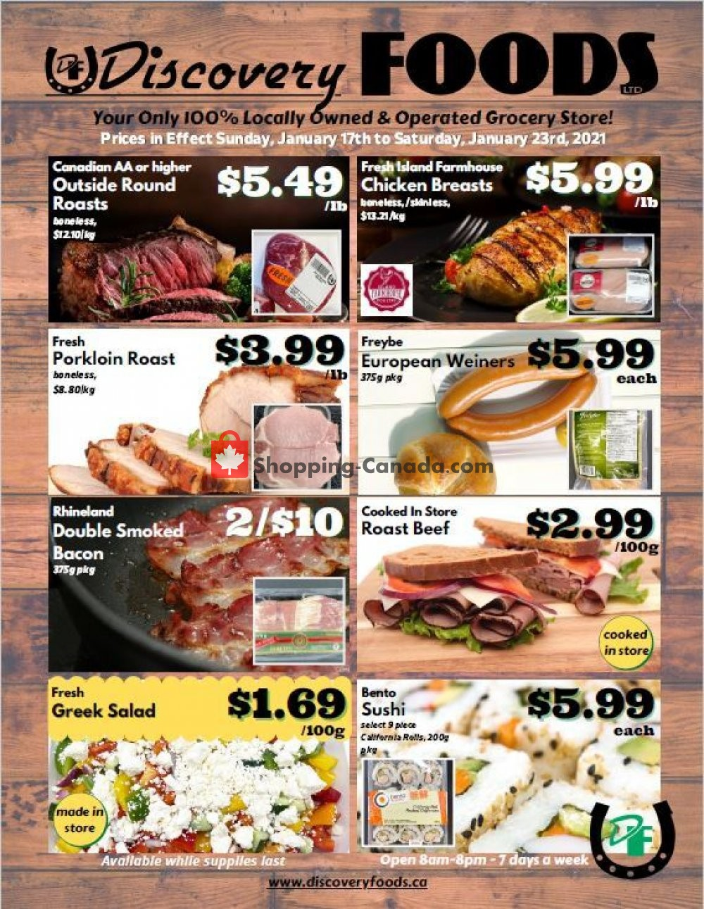Flyer Discovery Foods Canada - from Sunday January 17, 2021 to Saturday January 23, 2021