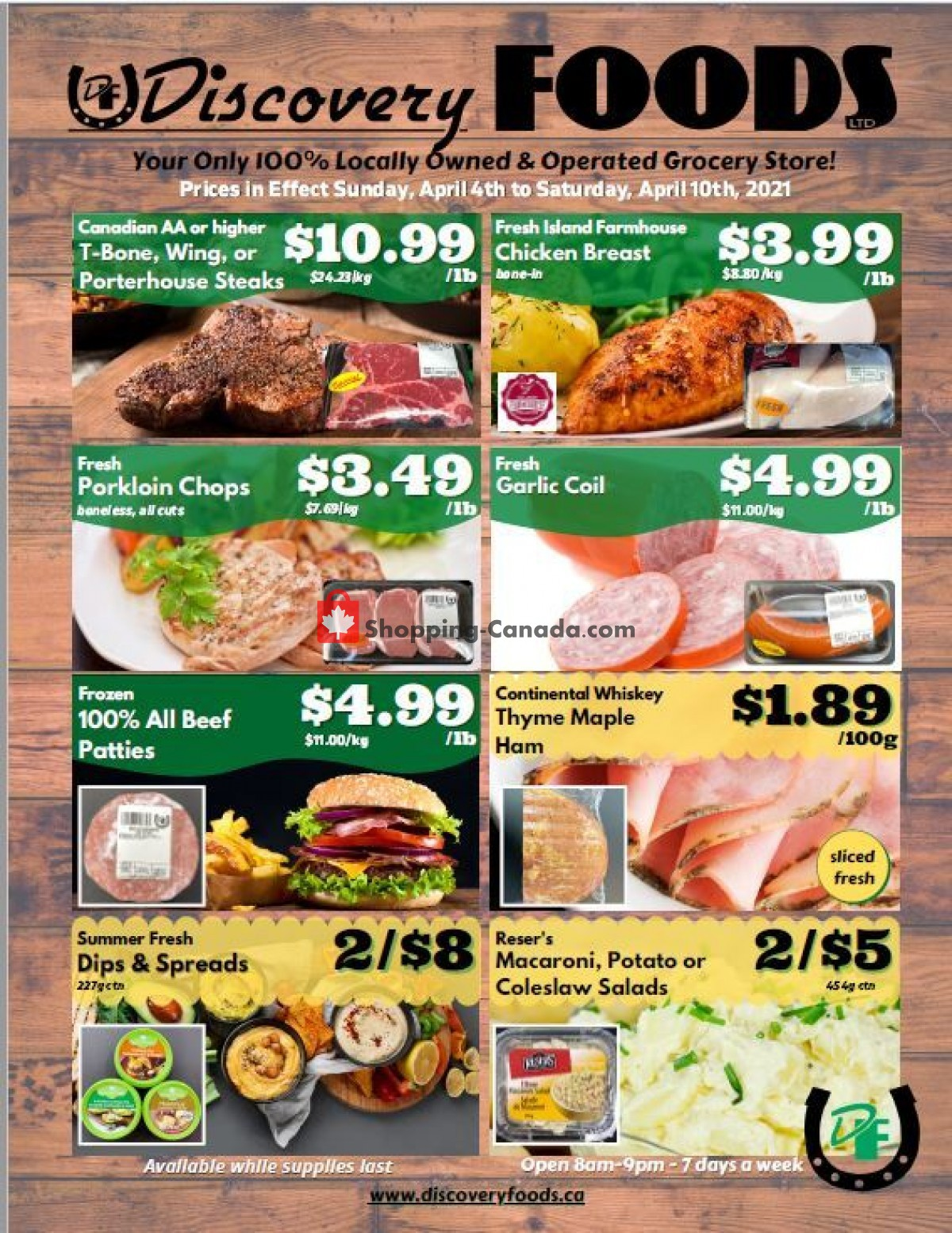 Flyer Discovery Foods Canada - from Sunday April 4, 2021 to Saturday April 10, 2021