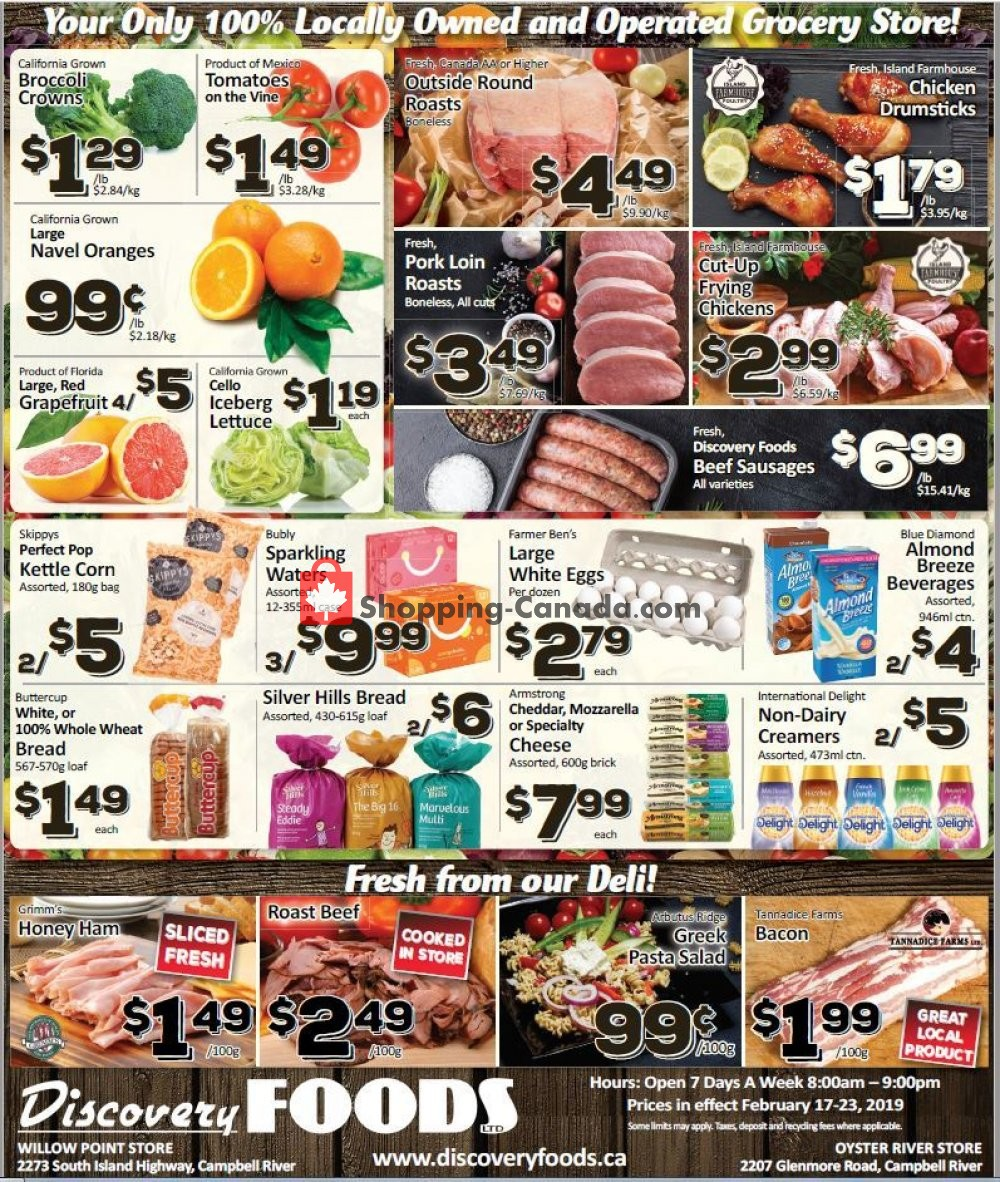 Flyer Discovery Foods Canada - from Sunday February 17, 2019 to Saturday February 23, 2019