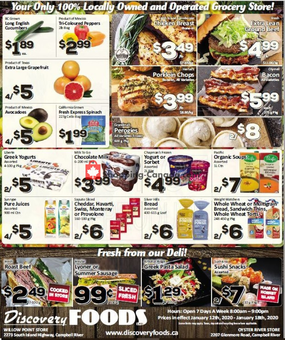Flyer Discovery Foods Canada - from Sunday January 12, 2020 to Saturday January 18, 2020