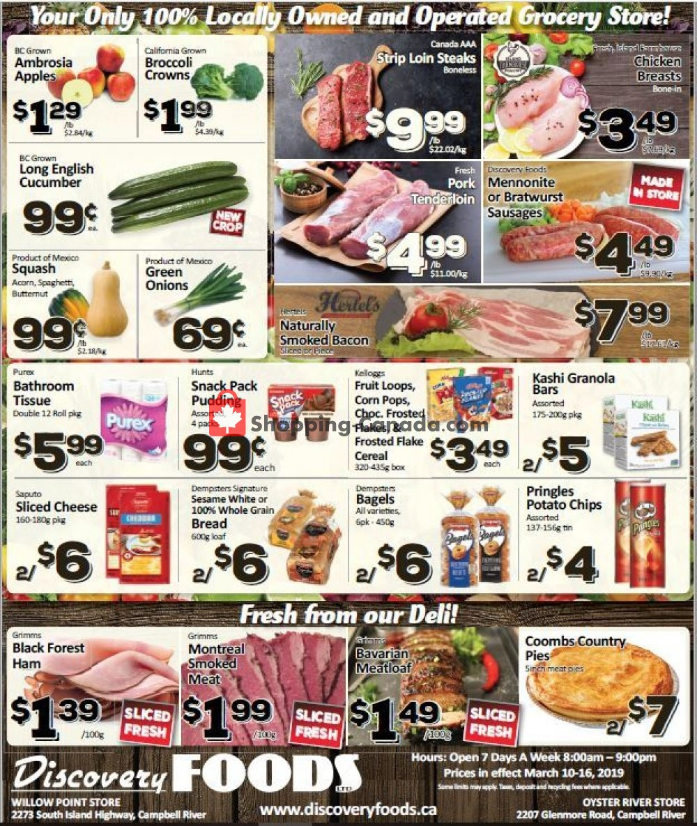 Flyer Discovery Foods Canada - from Sunday March 10, 2019 to Saturday March 16, 2019