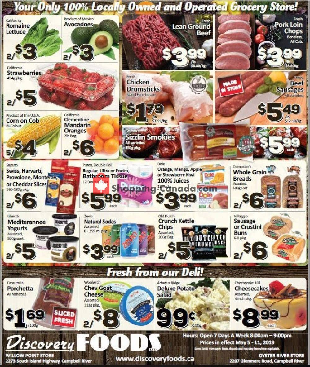 Flyer Discovery Foods Canada - from Sunday May 5, 2019 to Saturday May 11, 2019
