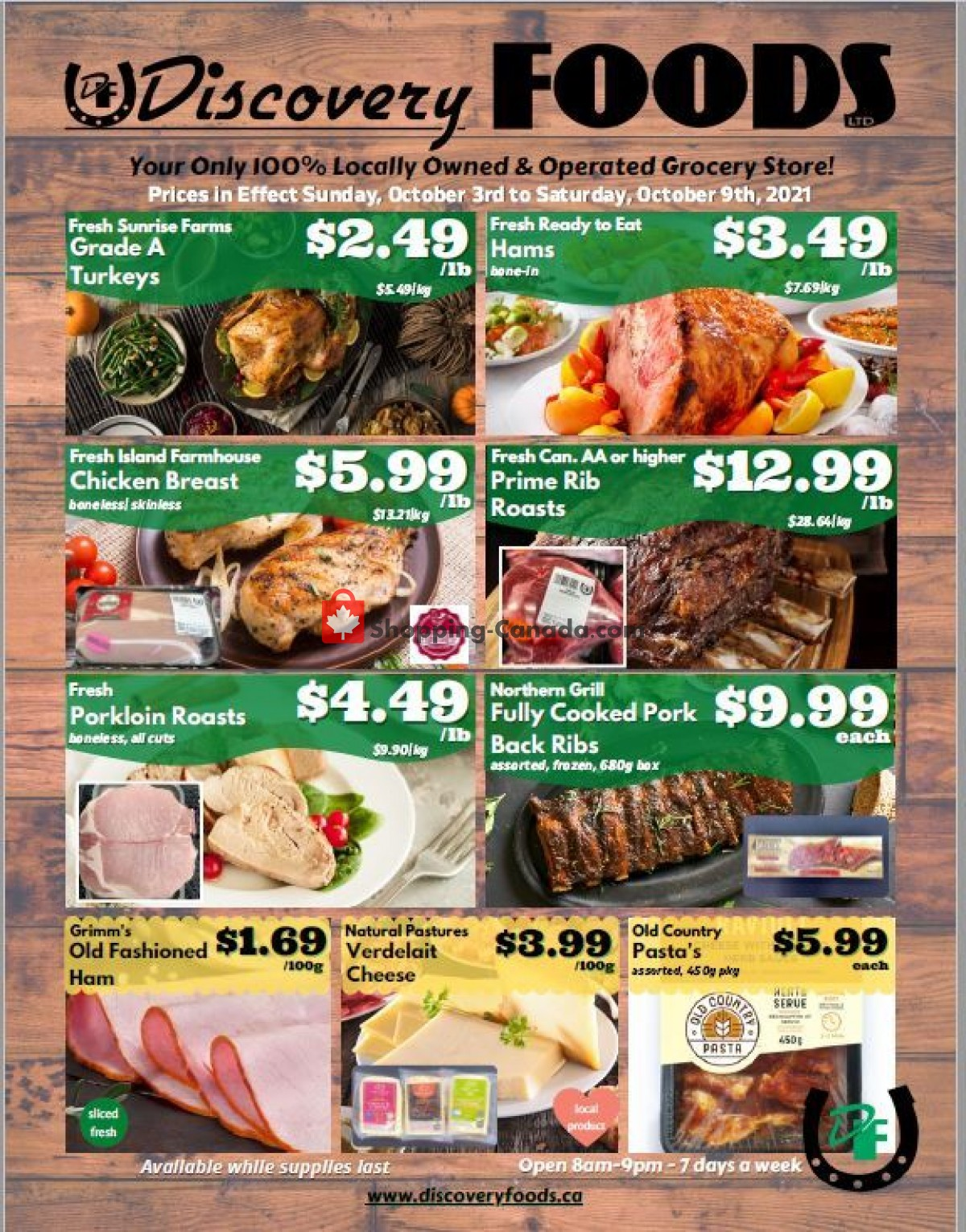 Flyer Discovery Foods Canada - from Sunday October 3, 2021 to Saturday October 9, 2021