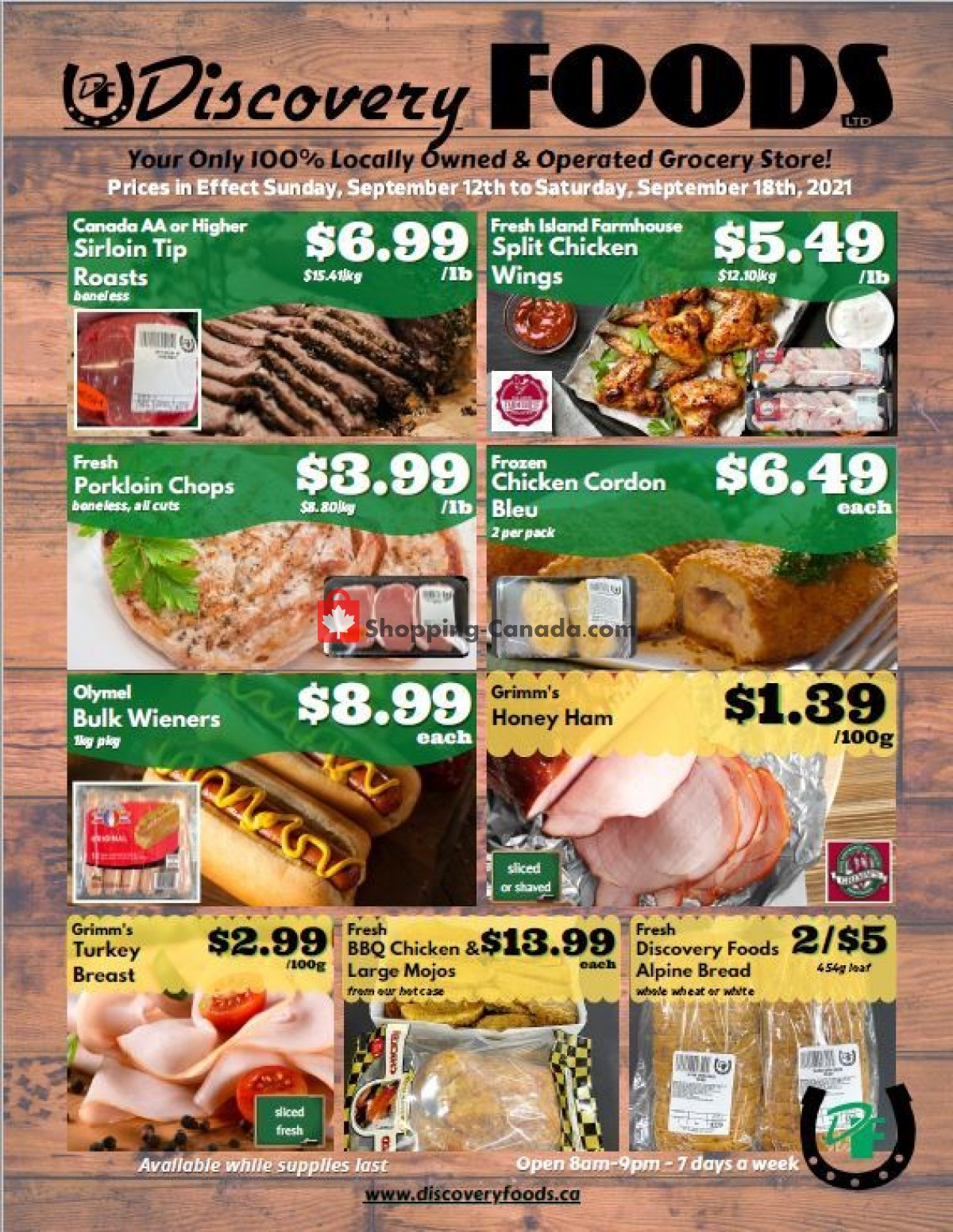 Flyer Discovery Foods Canada - from Sunday September 12, 2021 to Saturday September 18, 2021