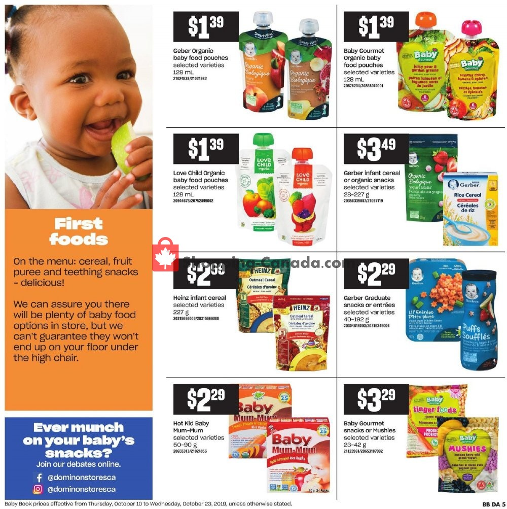 Flyer Dominion Canada - from Thursday October 10, 2019 to Wednesday October 16, 2019