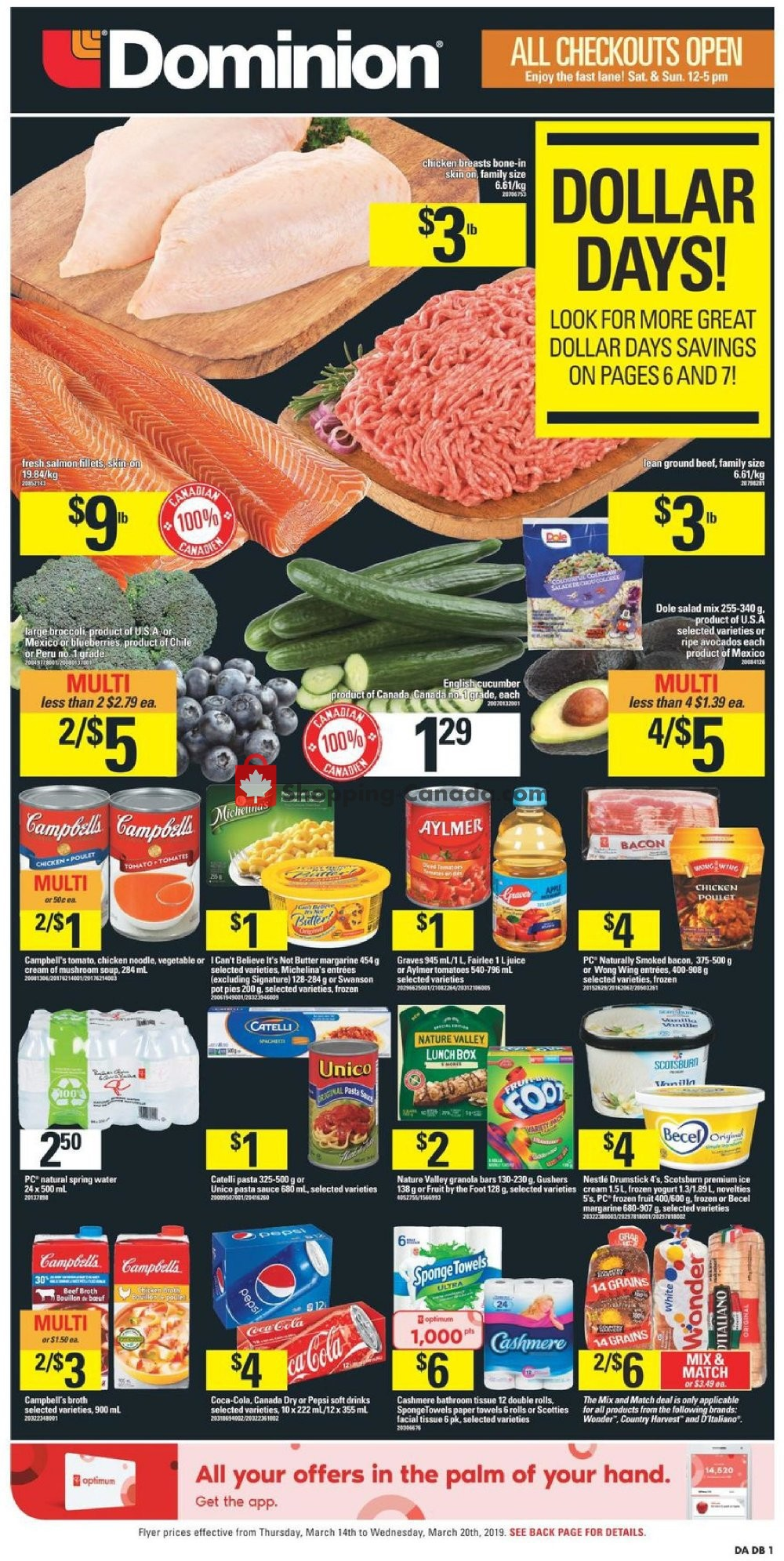 Flyer Dominion Canada - from Thursday March 14, 2019 to Wednesday March 20, 2019