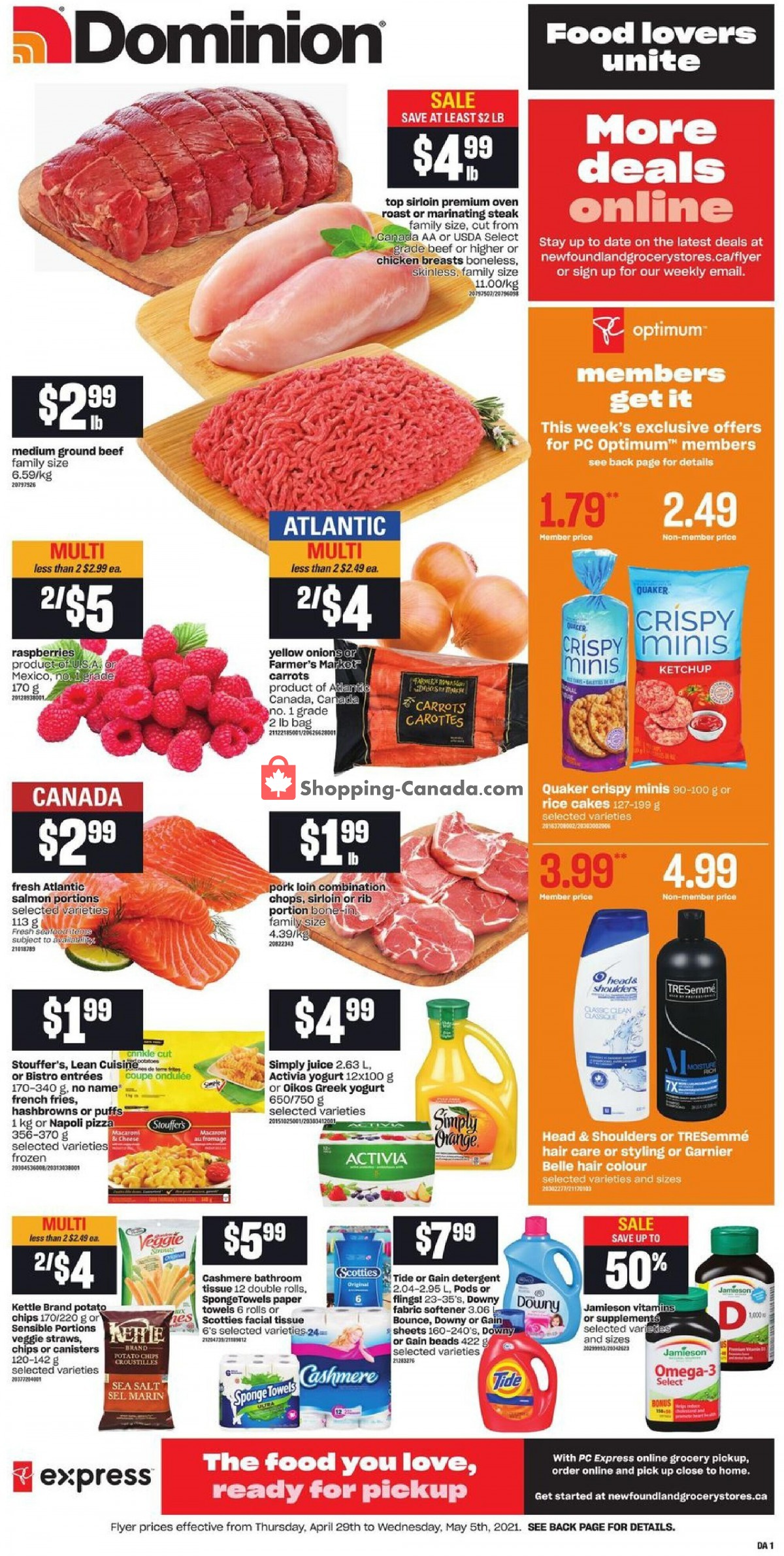 Flyer Dominion Canada - from Thursday April 29, 2021 to Wednesday May 5, 2021