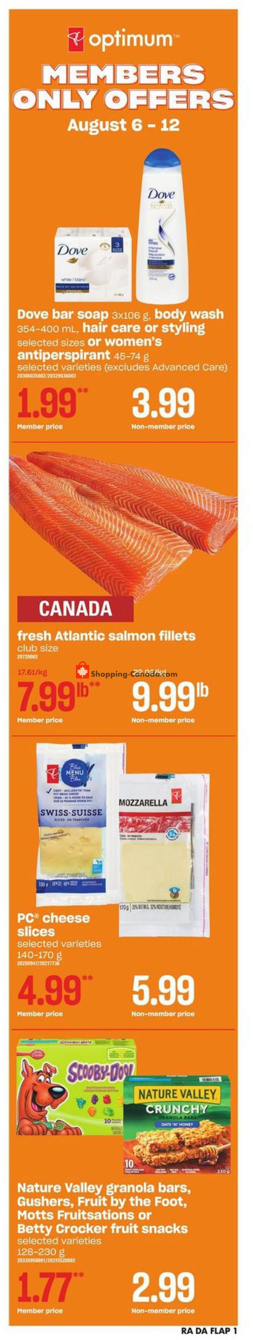 Flyer Dominion Canada - from Thursday August 6, 2020 to Wednesday August 12, 2020