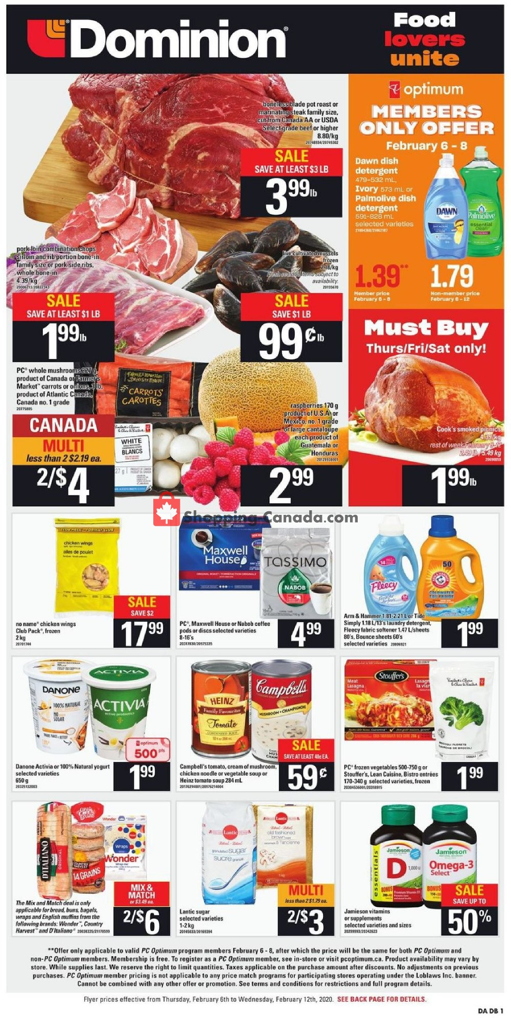 Flyer Dominion Canada - from Thursday February 6, 2020 to Wednesday February 12, 2020