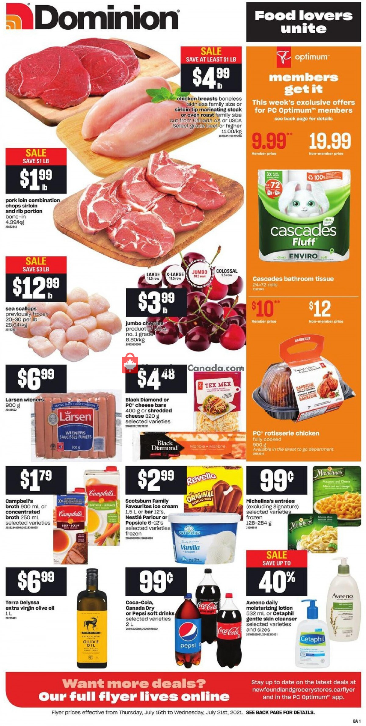 Flyer Dominion Canada - from Thursday July 15, 2021 to Wednesday July 21, 2021