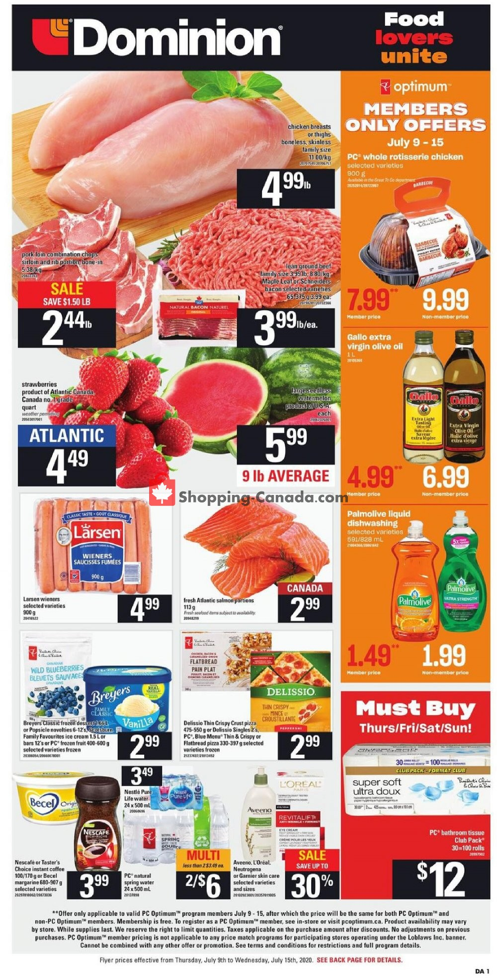 Flyer Dominion Canada - from Thursday July 9, 2020 to Wednesday July 15, 2020
