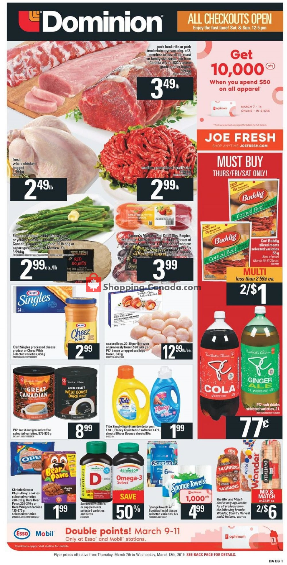 Flyer Dominion Canada - from Thursday March 7, 2019 to Wednesday March 13, 2019